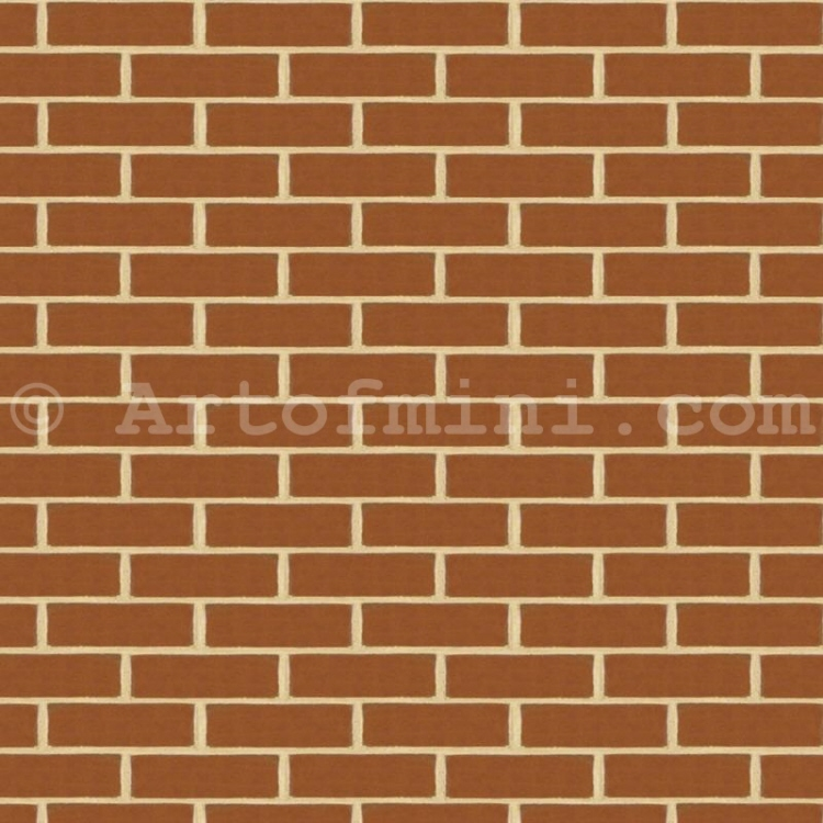 New Brown/Red Brick Pattern Cladding