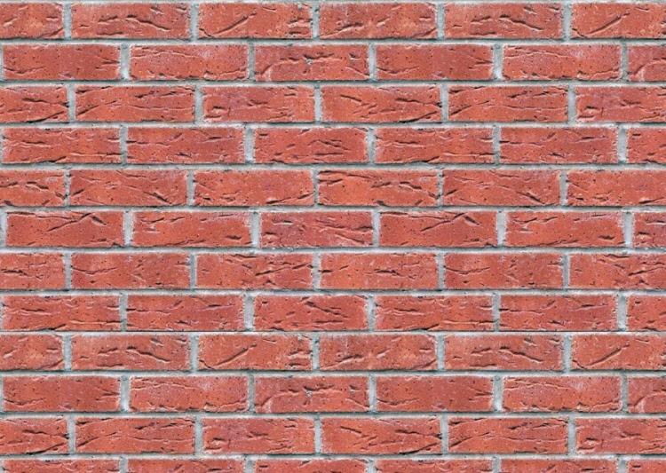 Dark Red Textured Brick Pattern Cladding